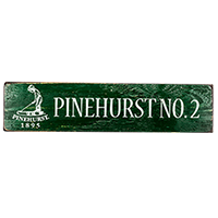 Pinehurst No. 2 Street Sign
