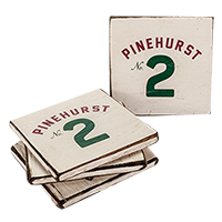 Pinehurst No. 2 Wooden Coaster Set (4)