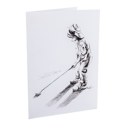 Putter Boy Statue Note Card Single
