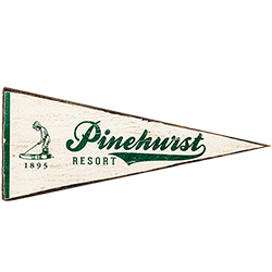 Pinehurst Small Pennant Wooden Sign MAIN