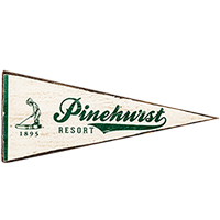 Pinehurst Small Pennant Wooden Sign THUMBNAIL