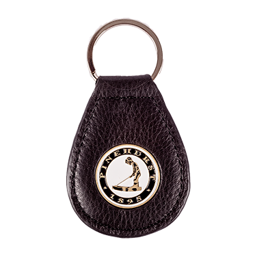 Pinehurst Tear Drop Key Chain - Black