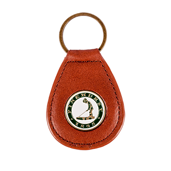 Pinehurst Tear Drop Key Chain - Brown