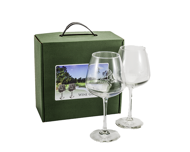 Set of 2 Putter Boy Wine Glasses Mini-Thumbnail