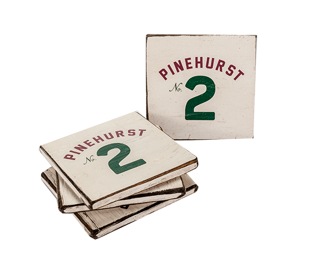Pinehurst No. 2 Wooden Coaster Set (4) Mini-Thumbnail