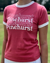L2 - Youth Girl's Camp Ringer Tee - Nantucket Red THUMBNAIL
