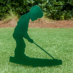 Putter Boy Lawn Ornament View Enlarged Image