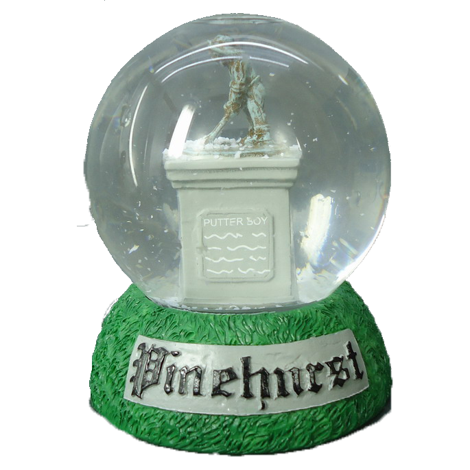 Putter Boy Statue Snow Globe