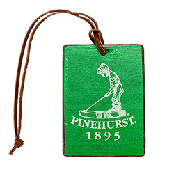 Putter Boy Wooden Bag Tag MAIN