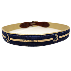 Putter Boy Center Stripe Belt - Navy/Khaki