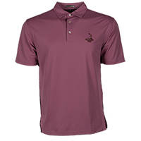 Men's Solid Stretch Mesh Polo