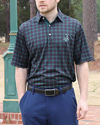 Donald Ross- Men's Tartan Collection- Tartan Print Polo THUMBNAIL