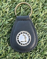 Pinehurst Tear Drop Key Chain - Black THUMBNAIL