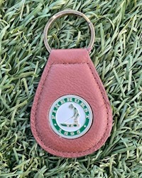 Pinehurst Tear Drop Key Chain - Brown THUMBNAIL
