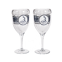 Pinehurst Navy Wrap Wine Glass Set Mini-Thumbnail