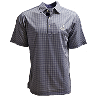 Men's Donald Ross Tartan Collection- Mini Check Polo_THUMBNAIL