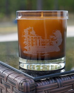 Carolina Hotel Etched Candle (Vanilla Bean) LARGE