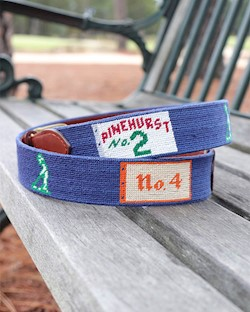 Smathers and Branson Pinehurst Championship Needlepoint Belt LARGE