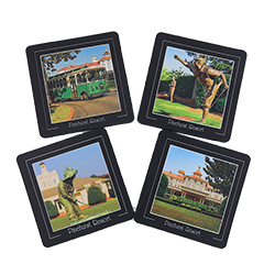 Pinehurst Resort Neoprene Coaster Set of 4 LARGE