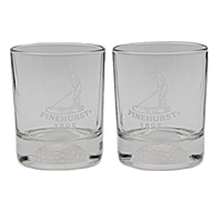 Putter Boy FORE DOF 12.5 oz Glass Set of 2 THUMBNAIL