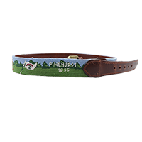 Smathers and Branson Pinehurst Scene Needlepoint Belt THUMBNAIL