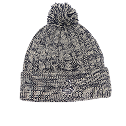 Cable Knit Cap with Pom_LARGE