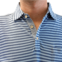 Men's Peter Millar Cradle Stripe Indigo Wash Polo_SWATCH