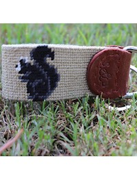 Smathers and Branson- Fox Squirrel Needlepoint key Fob THUMBNAIL