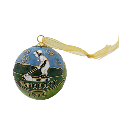 Pinehurst/Carolina Cloisonne Ornament Mini-Thumbnail