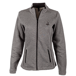 Ladies' Deluxe Full Zip Jacket - Charcoal