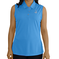 Ladies' Pinehurst Private Label Solid Sleeveless Polo SWATCH