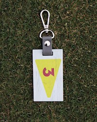 Pinehurst No. 3 Wooden Flag Bag Tag THUMBNAIL