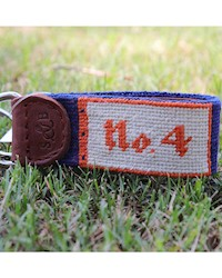 Smathers and Branson- No. 4 Needlepoint Key Fob THUMBNAIL