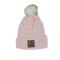 Ladies' Fur Pom Knit Winter Hat THUMBNAIL