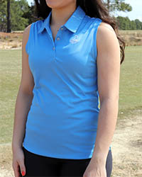 Ladies' Pinehurst Private Label Solid Sleeveless Polo THUMBNAIL