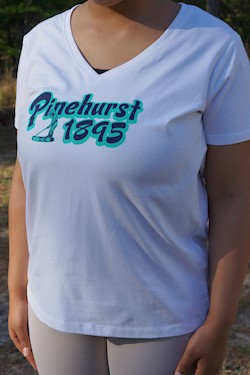 Ahead- Ladies' Pinehurst 1895 Sandgate V-Neck Tee LARGE