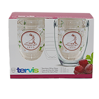 Tervis- Dogwood Stemless Wine Glass/Set of 2_SWATCH