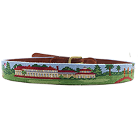 Smathers and Branson Pinehurst Scene Needlepoint Belt Mini-Thumbnail