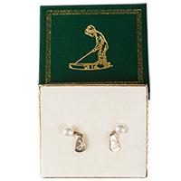 Silver Putter Boy Jacket Earrings (with pearls)