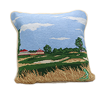 Smathers and Branson Course Needlepoint Pillow