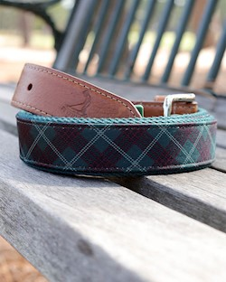 Pinehurst Tartan Collection- Tartan Print Belt LARGE