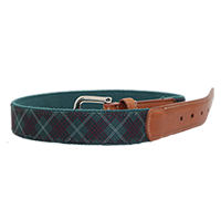 Pinehurst Tartan Collection- Tartan Print Belt THUMBNAIL