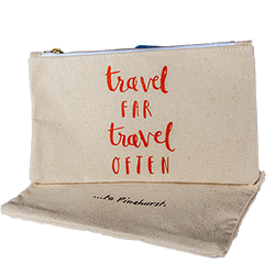 Travel Far and Often Pouch