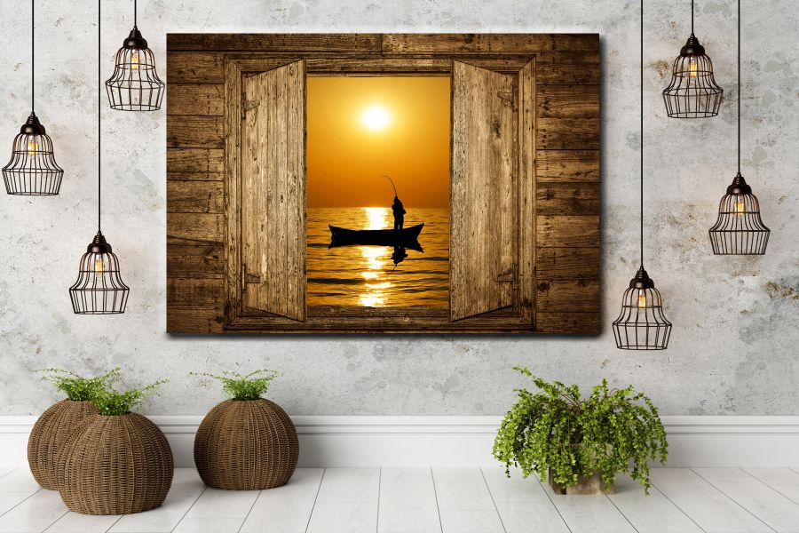 HD Metal Art, Indoor/Outdoor Wall Decor, NAUTICAL SEA OCEAN 12331 200 11 THUMBNAIL