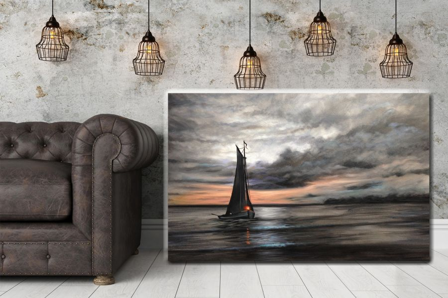 Canvas Art Wall Decor, BOATS, SEA, NAUTICAL ART 12333 LARGE
