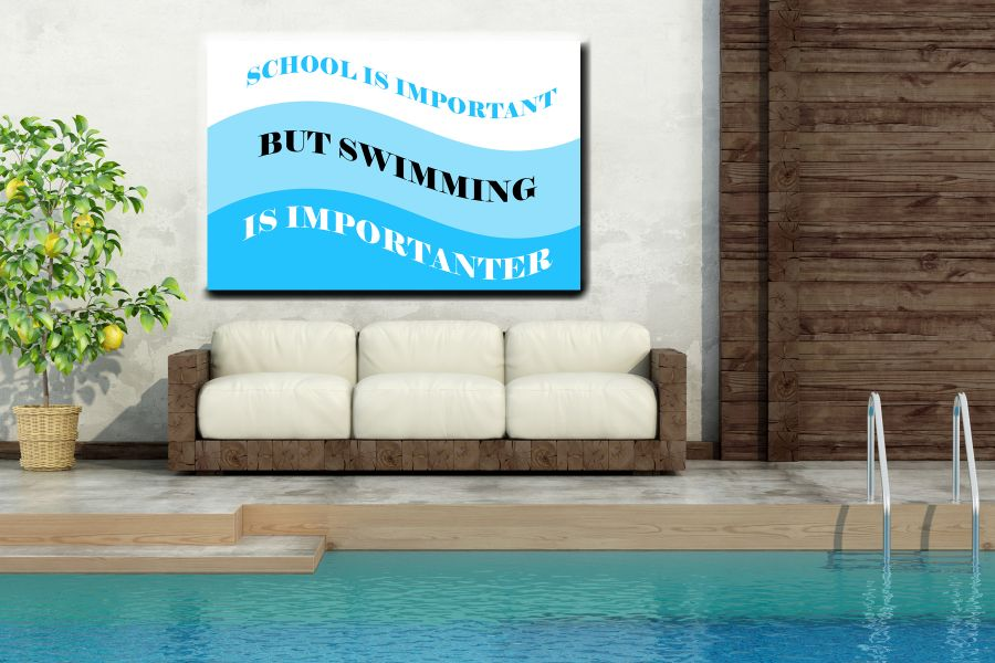 HD Metal Art, Indoor/Outdoor Wall Decor,  Pixolate, Subtint POOL SIGN 13553 200 LARGE