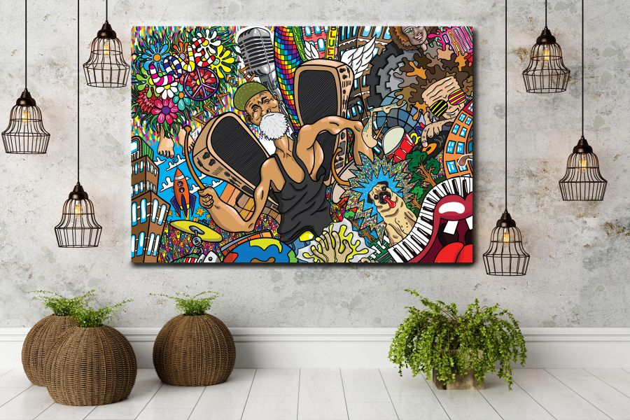 Canvas Art Wall Decor, Pixolate, HD METAL ART, HD MDF ART GICLEE, WHOLESALE ART, MADE IN USA ART, pop art, digital art, THUMBNAIL