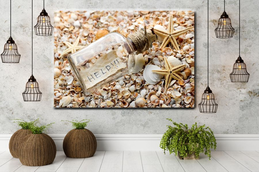 HD Metal Art, Indoor/Outdoor Wall Decor, SEASHELLS 19002 911 THUMBNAIL