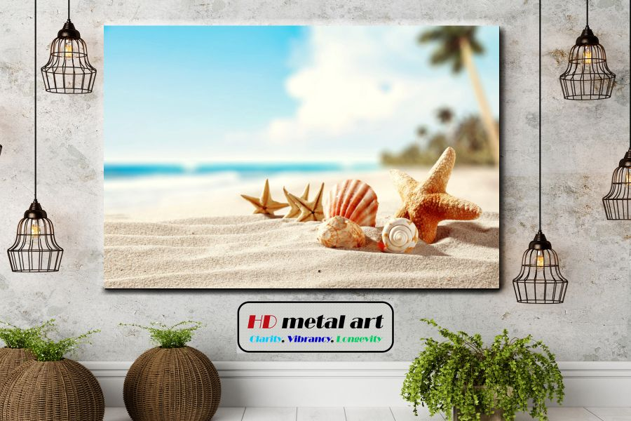 Canvas Art Wall Decor, coastal, tropical, beach, sea, ocean, water, carribian,  SEASHELLS 19006 LARGE
