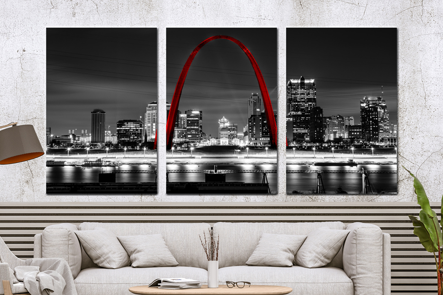 CITIES, LANMARKS, USA, ST LOUIS, BLACK AND WHITE THUMBNAIL